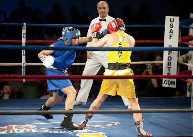 ženský boxerský zápas