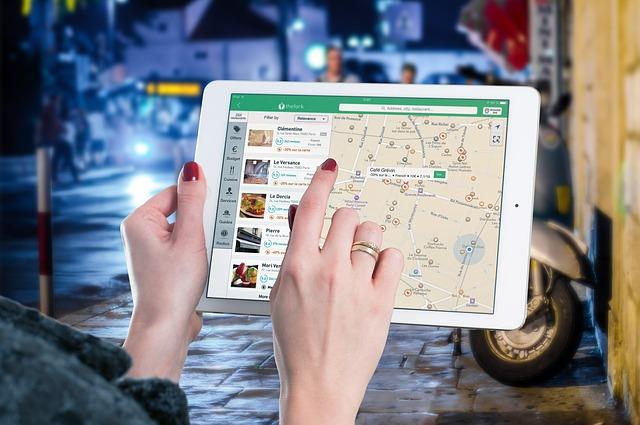 vyhledávání na iPadu