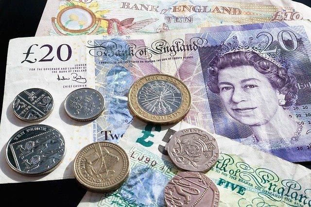 měna Anglie