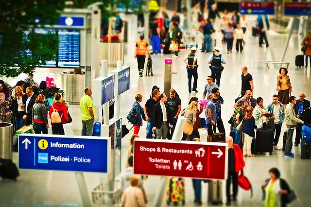 Ruch na mezinárodním letišti